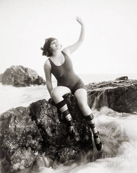 Photograph - Silent Still: Bather by Granger
