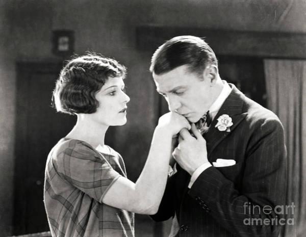 Photograph - Silent Still: Hand Kissing by Granger