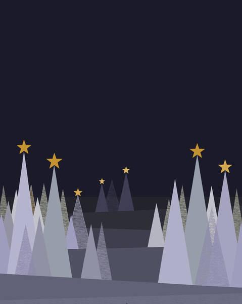 Wall Art - Digital Art - Silent Winter Night - Vertical by Val Arie