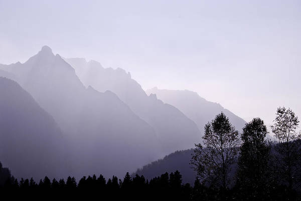 Sabine Photograph - Silhouette Austria Europe by Sabine Jacobs