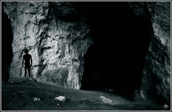 Photograph - Silhouette In The Grotto by Wayne King