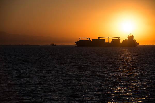 Photograph - Silhouette Of A Boat by Sotiris Filippou