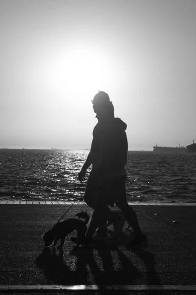 Photograph - Silhouette Of A Couple  by Sotiris Filippou