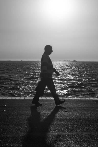 Photograph - Silhouette Of A Man by Sotiris Filippou