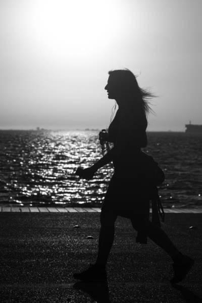 Photograph - Silhouette Of A Woman by Sotiris Filippou