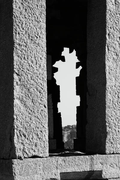 Photograph - Silhouette Of Pillars, Hampi, 2017 by Hitendra SINKAR
