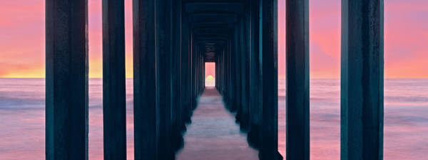 Scripps Pier Photograph - Silhouette Of Scripps Pier, La Jolla by Panoramic Images
