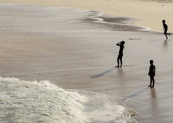 Photograph - Silhouette On Beach by Alexandre Rotenberg