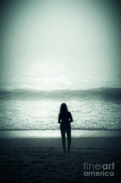 Adolescence Photograph - Silhouette On The Beach by Carlos Caetano
