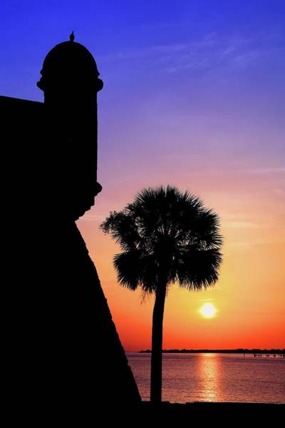 Photograph - Silhouette Sunrise At Castillo De San Marcos In St. Augustine by Carol Montoya