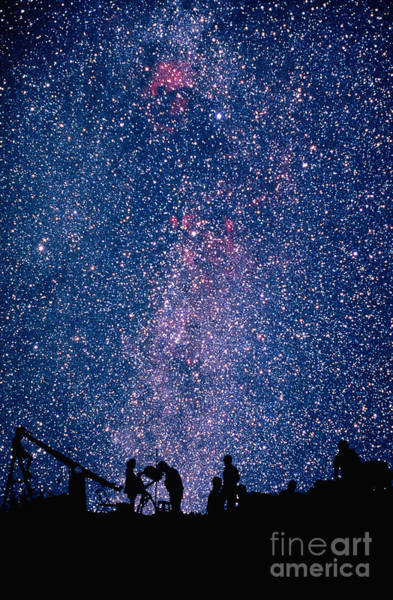 Photograph - Silhouetted Astronomers by Frank Zullo