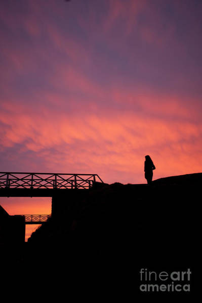 Photograph - Silhouetted Woman At Sunset by Keith Morris