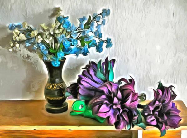 Husk Painting - Silk And Corn Husk Flowers 2190 by Lola VJ