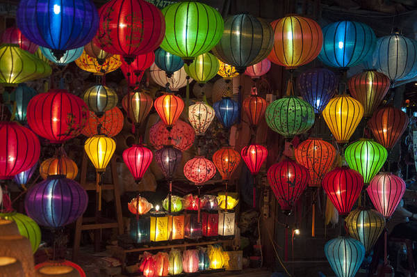 Silk Lanterns Art Print