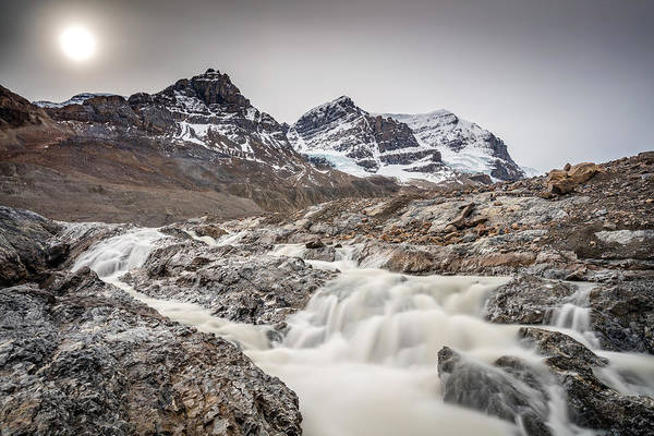 Photograph - Silky Melt Water Of Athabasca Glacier by Pierre Leclerc Photography