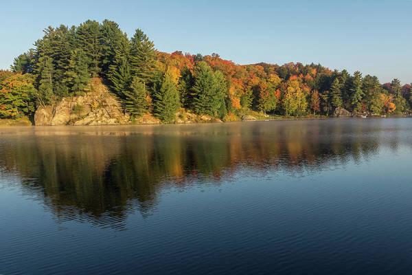 Photograph - Silky Morning - Autumn On Lake Rosseau In Muskoka by Georgia Mizuleva