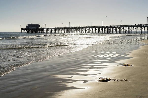 Photograph - Silky Sands And Sunshine - Newport Beach Pier Orange County California by Georgia Mizuleva