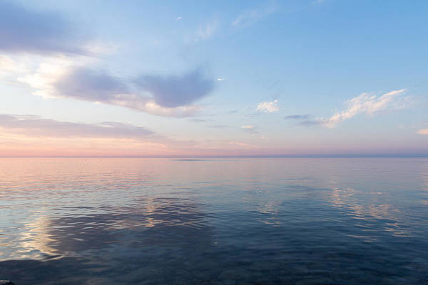 Photograph - Silky Satin On The Lake - Blue And Pink Serenity by Georgia Mizuleva