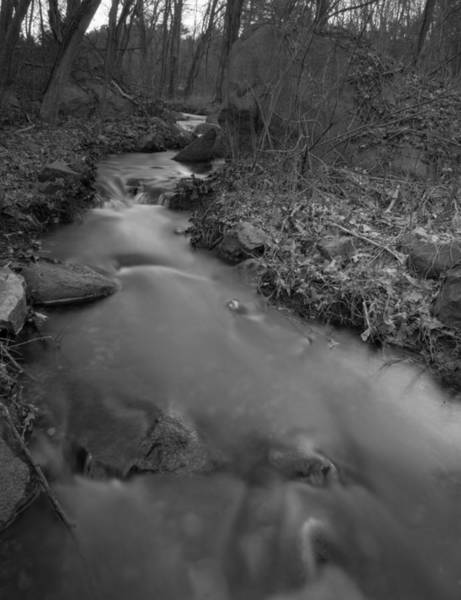 Photograph - Silky Stream In Black And White by Brian MacLean