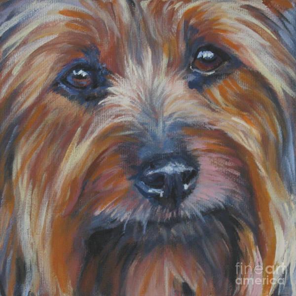 Pup Painting - Silky Terrier by Lee Ann Shepard