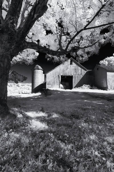 Photograph - Silo In Black And White by Tom Singleton
