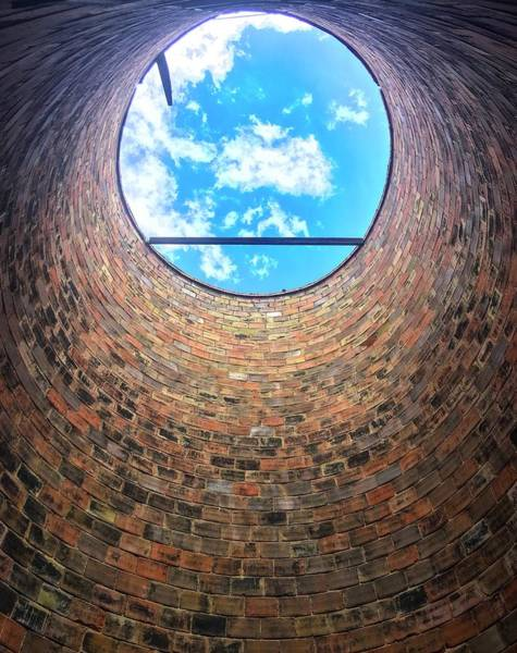 Photograph - Silo Look Up by Rand