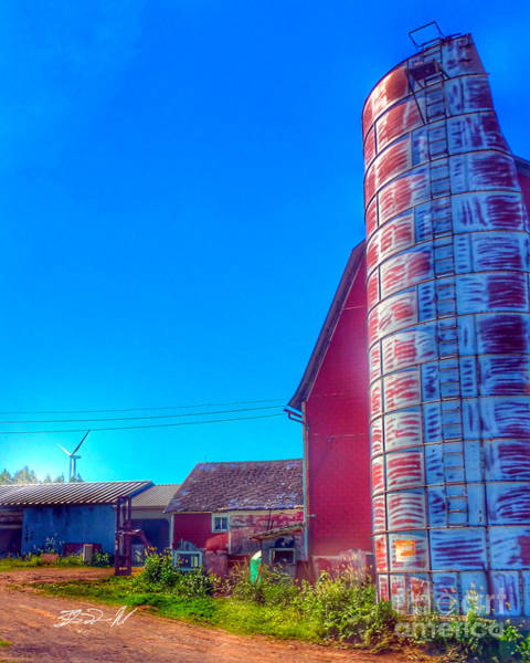 Photograph - Silo by Rob Mandell