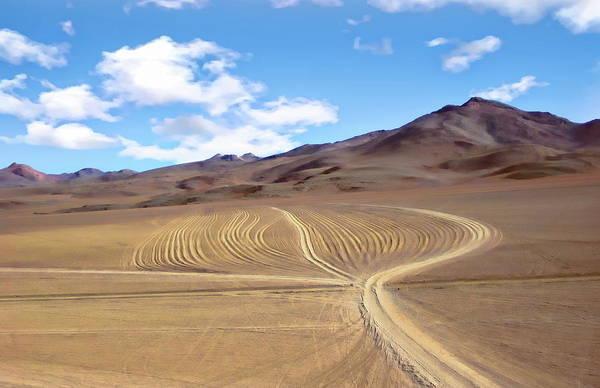 Photograph - Siloli Desert Landscape by Anthony Dezenzio