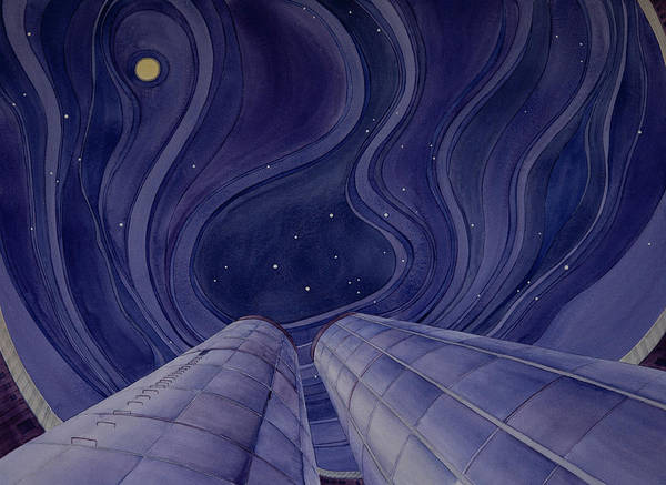 Painting - Silos Looking Up by Scott Kirby