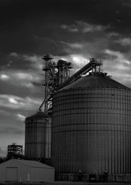 Photograph - Silos On The Tennessee River Bw by Lesa Fine