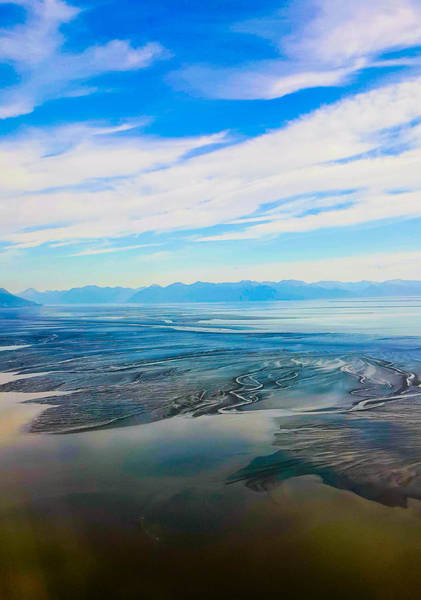 Silty Sand In Cook Inlet Art Print