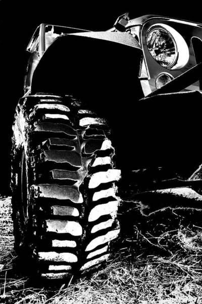 Photograph - Silver And Black Jk Mud Bogger by Luke Moore