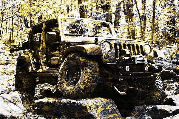 Photograph - Silver And Gold Jeep Wrangler Jku by Luke Moore