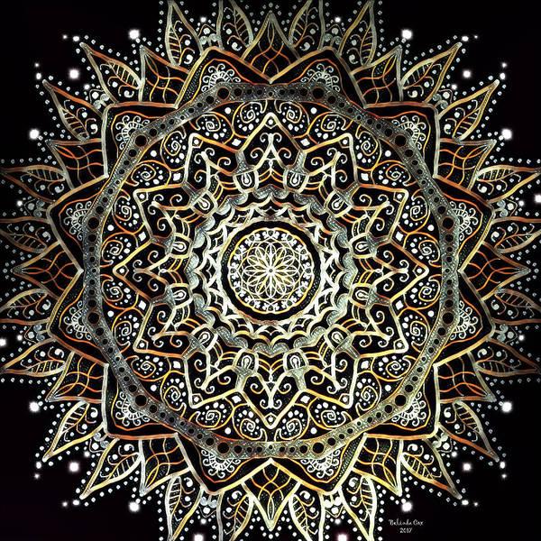 Digital Art - Silver And Gold Mandala by Artful Oasis
