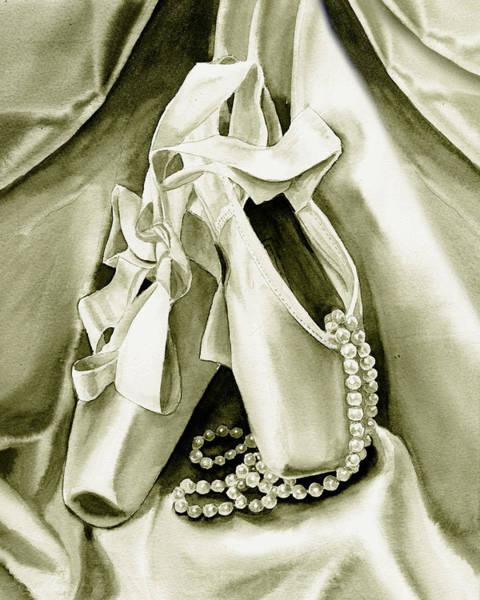 Painting - Silver Ballet Shoes by Irina Sztukowski