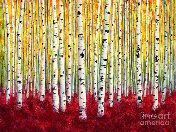 Painting - Silver Birches by Hailey E Herrera