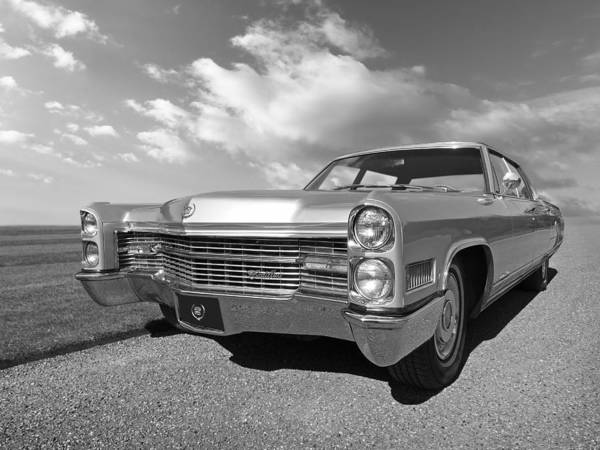 Photograph - Silver Cadillac 1966 by Gill Billington
