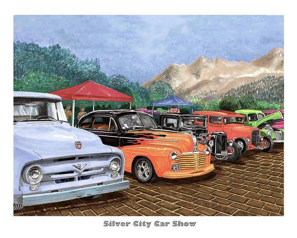 Custom Truck Painting - Silver City Car Show by Jack Pumphrey