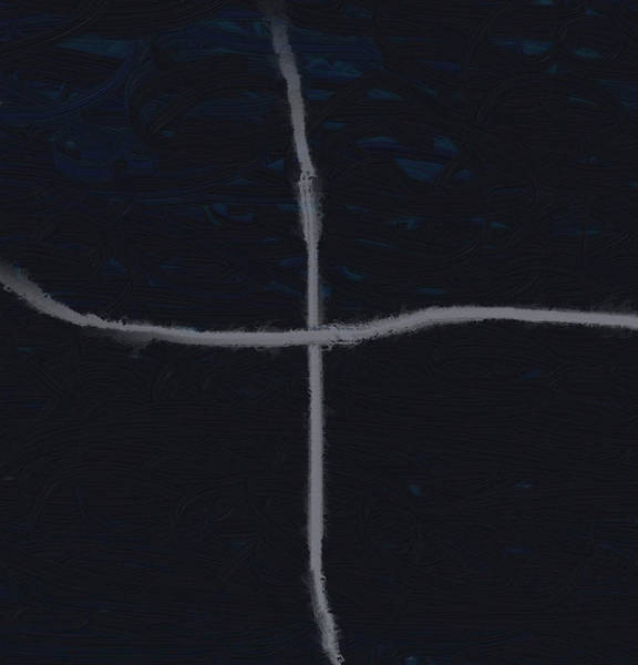Wall Art - Painting - Silver Cross by Dan Sproul