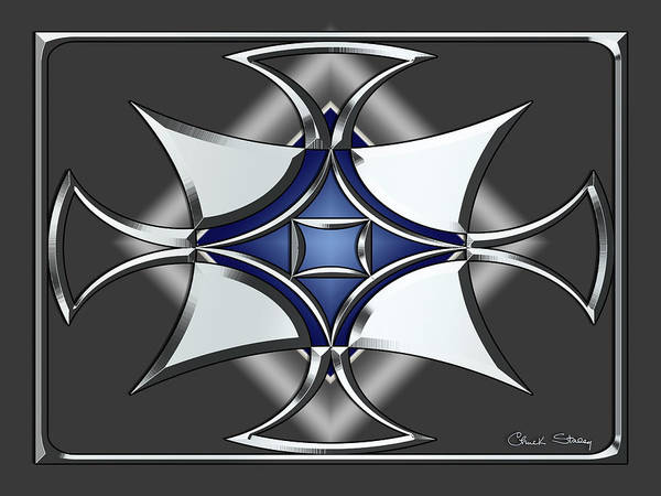 Digital Art - Silver Design 12 by Chuck Staley