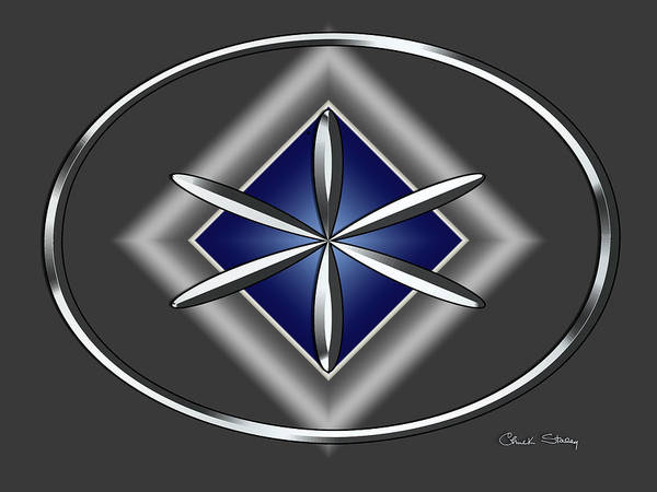 Digital Art - Silver Design 13 by Chuck Staley