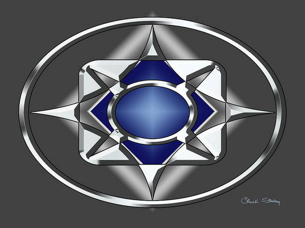 Digital Art - Silver Design 14 by Chuck Staley