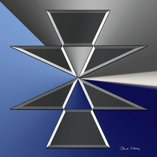 Digital Art - Silver Design 2 by Chuck Staley