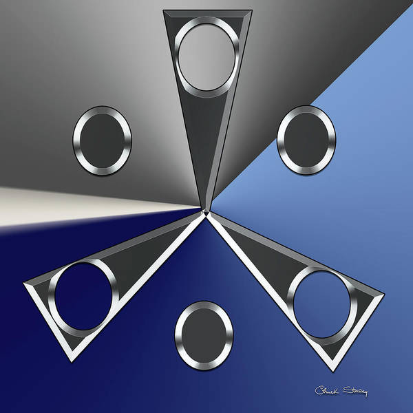 Digital Art - Silver Design 3 by Chuck Staley