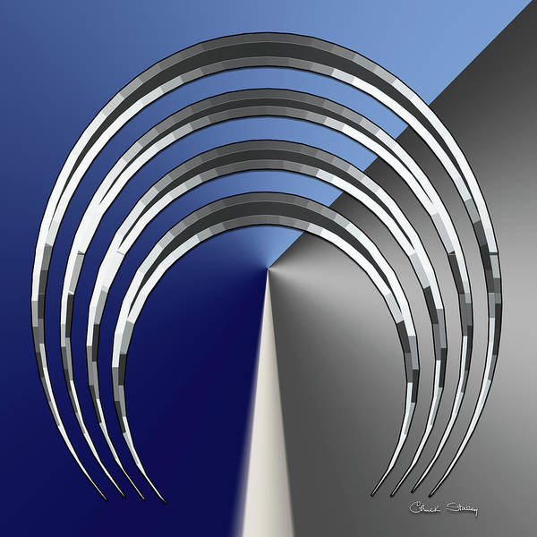 Digital Art - Silver Design 5 by Chuck Staley