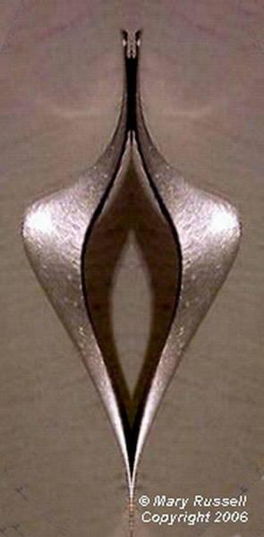 Digital Art - Silver Earring by Mary Russell