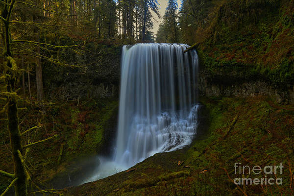 Photograph - Silver Falls Middle North Falls by Adam Jewell