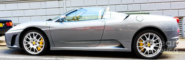 Photograph - Silver Ferrari by Colin Rayner