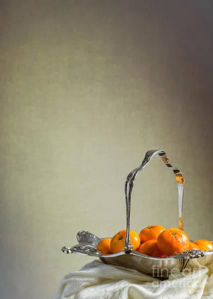 Wall Art - Photograph - Silver Fruit Basket by Amanda Elwell