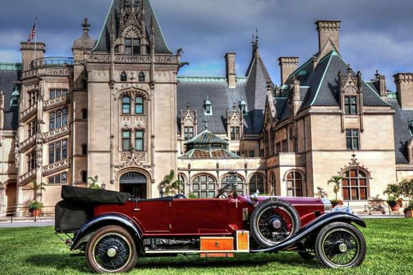 Photograph - Silver Ghost Rolls Royce And Americans Castle  by Carol Montoya